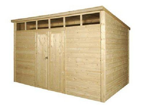 abri jardin bois 28 mm skylight