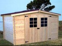 abri de jardin bois 28 mm 2 vitres