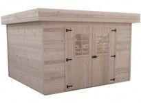 abri jardin bois 28 mm toiture bac acier