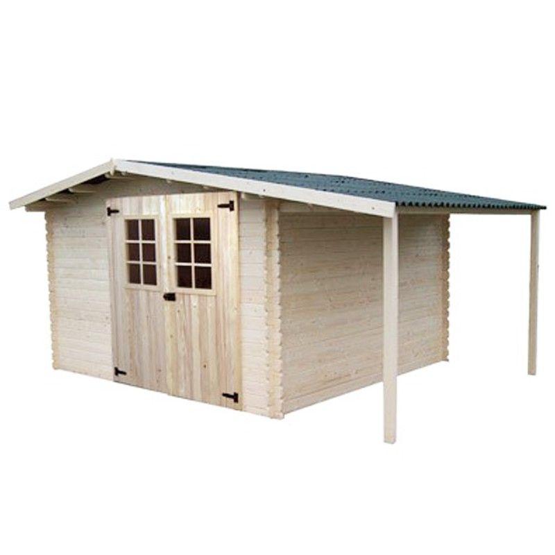 abri de jardin 15m2 avec b cher. Black Bedroom Furniture Sets. Home Design Ideas