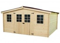 abri de jardin bois 28 mm 13 m²