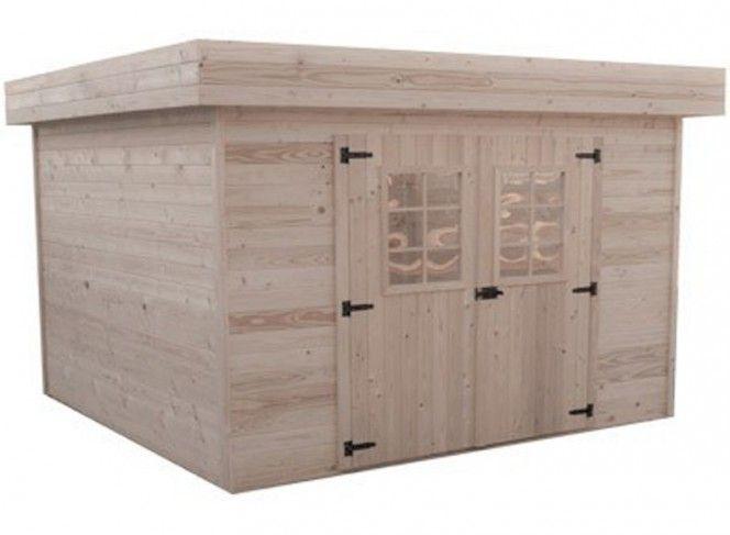 abri jardin bois toit bac acier 28 mm