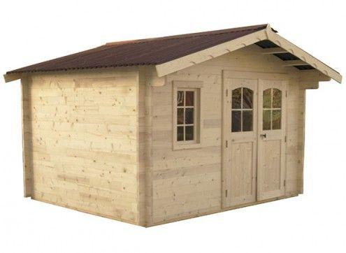 chalet de jardin bois 42 mm - 10 M²