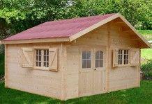 chalet de jardin bois 42 mm - 17 M²