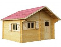 Abri jardin bois brut 60 mm - 17 m²