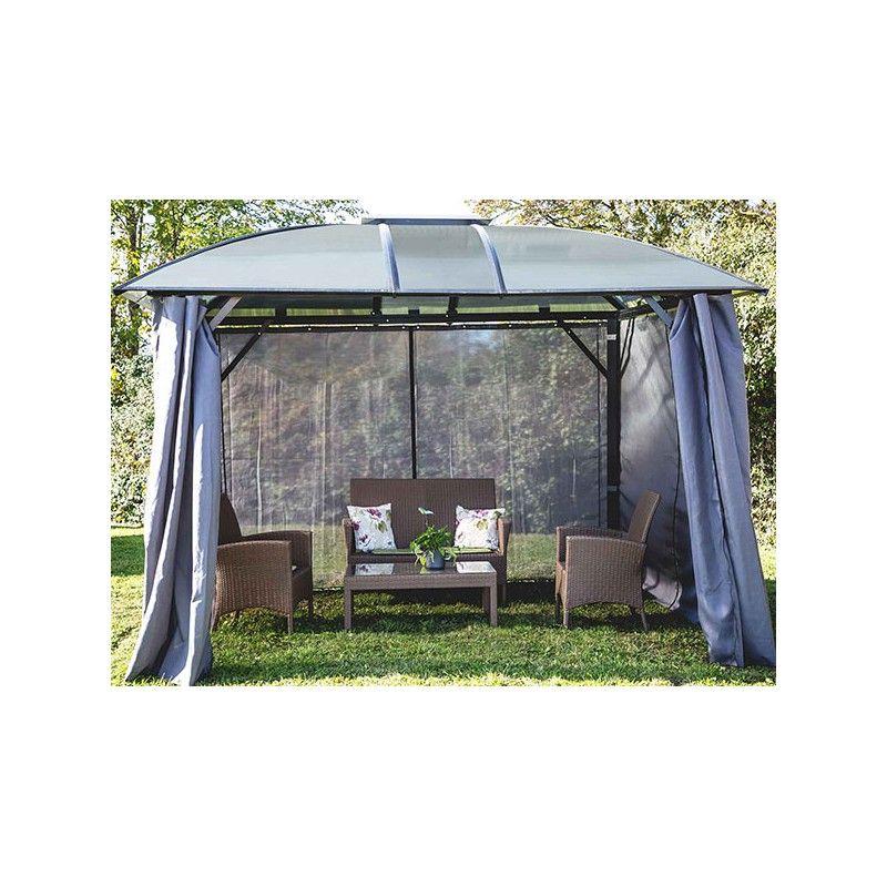 tonnelle alu avec rideaux discount. Black Bedroom Furniture Sets. Home Design Ideas