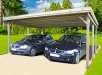 CARPORT DOUBLE AUTOCLAVE TOIT PLAT