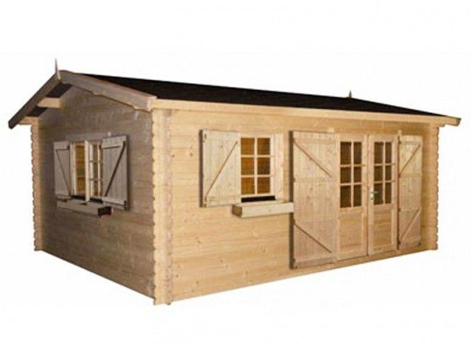 abri jardin bois 34 mm toit 2 pentes