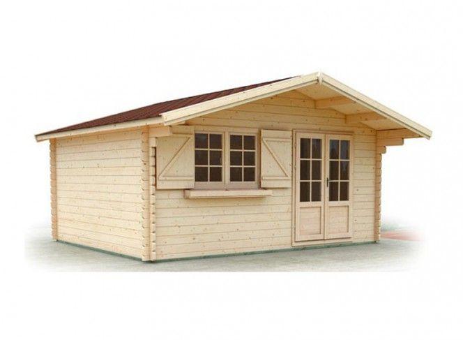abri de jardin en bois brut madriers 44 mm 20m. Black Bedroom Furniture Sets. Home Design Ideas