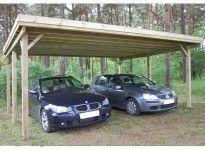 Carport bois double