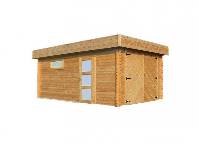Garage bois madriers 40 mm