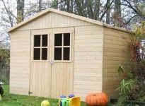 abri de jardin panneau bois 12 mm