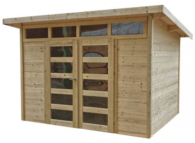 abri jardin bois 28 mm à peindre