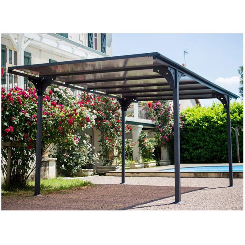 carport toit plat alu design pas cher. Black Bedroom Furniture Sets. Home Design Ideas