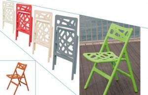 Chaise pliante couleur
