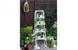 Escabot élément de décoration dans jardin