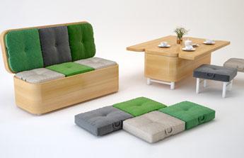 Sofa et table, deux fonctions, un seul objet