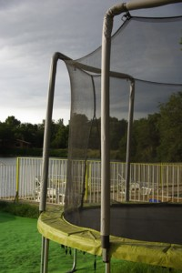 Trampoline filet de protection
