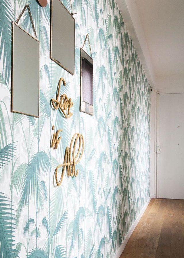 Faire de son entr e un espace chaleureux et accueillant for Papier peint entree maison