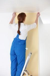 Le papier peint fait peau neuve blog ma maison mon for Pose de papier peint