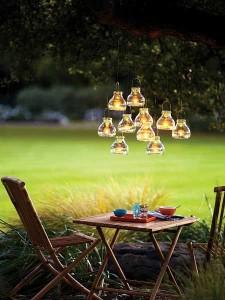 Lumière lampion pour table de jardin