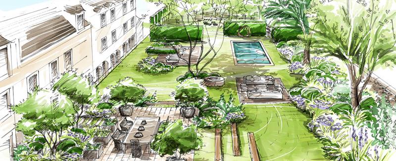 Le jardin en mode international blog ma maison mon jardin for Jardin dessin