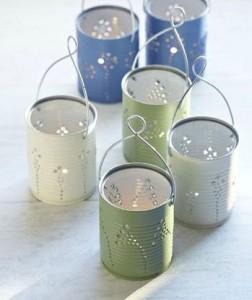 Des lanternes créées à partir de boites de conserve - DIY