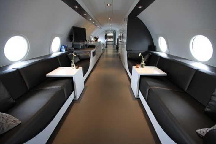 hôtel dans un avion aux Pays Bas