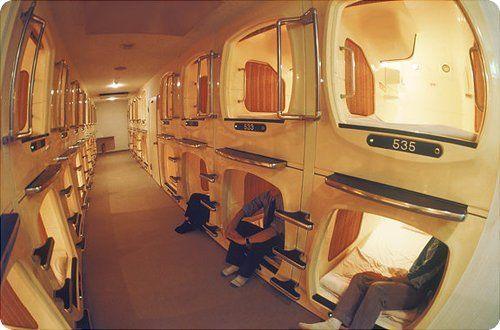 hôtel capsule au Japon