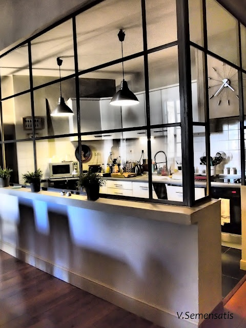 La cuisine ouverte une bonne id e blog ma maison mon jardin - Separation cuisine style atelier ...