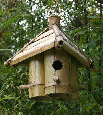 cabane à oiseaux en bambous