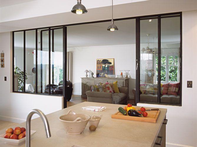 La cuisine ouverte une bonne id e blog ma maison mon - Separation cuisine salon vitree ...