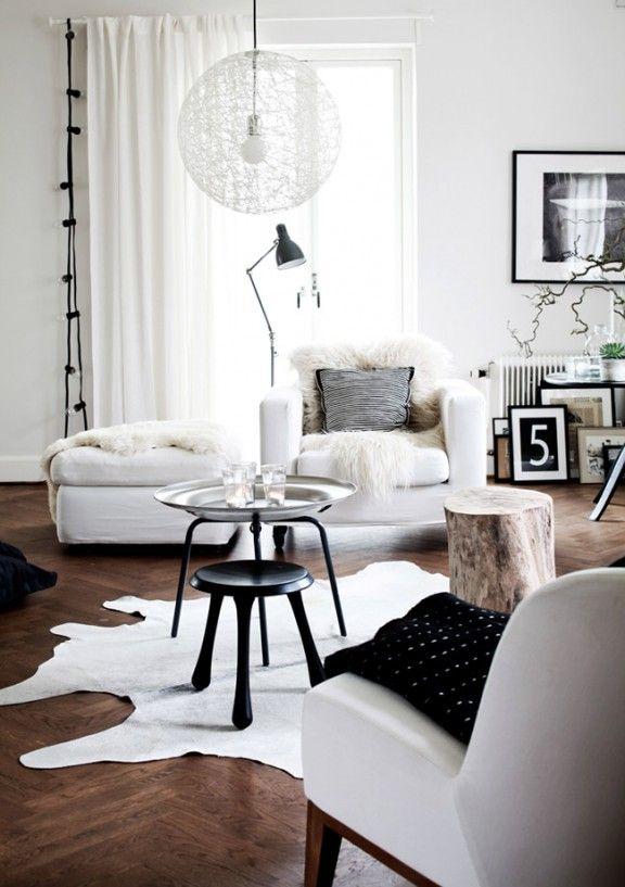 Déco de ma maison mon jardin sur pinterest mur et mobilier blanc avec parquet foncé