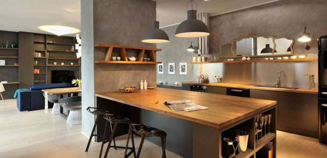 La cuisine ouverte une bonne id e blog ma maison mon for Cuisine contemporaine bois massif design