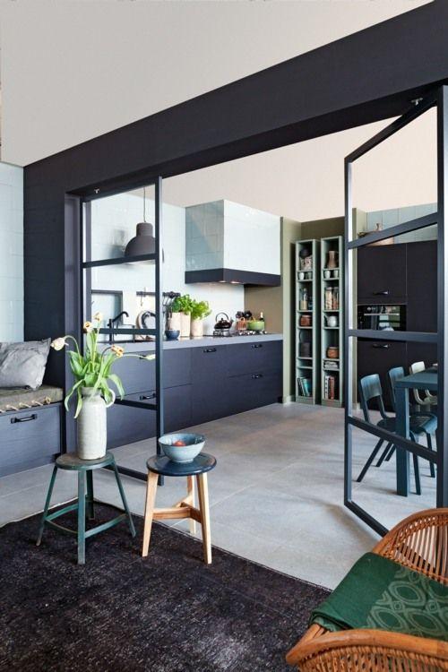 La cuisine ouverte une bonne id e blog ma maison mon - Separation entre cuisine et salon ...