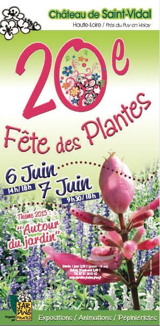 affiche fête des plantes St Vidal