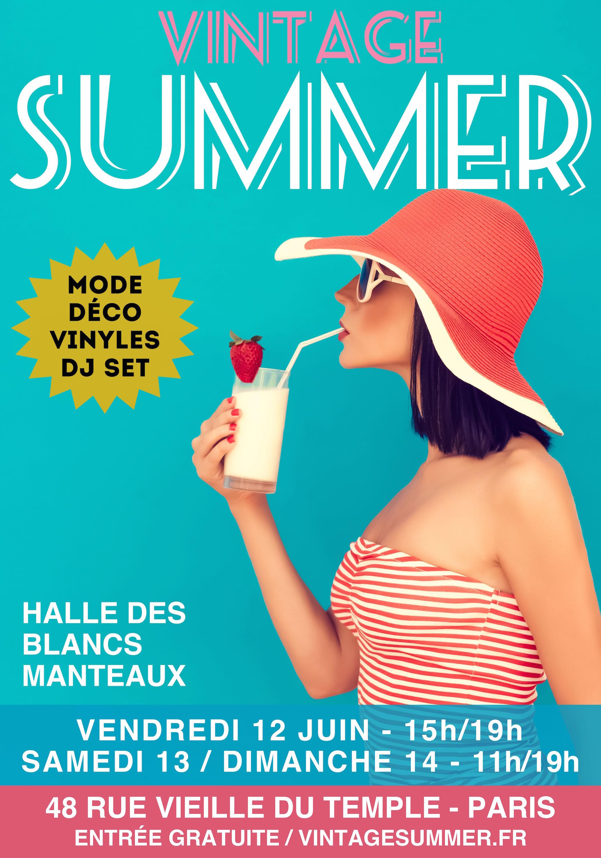 affiche Summer Vintage