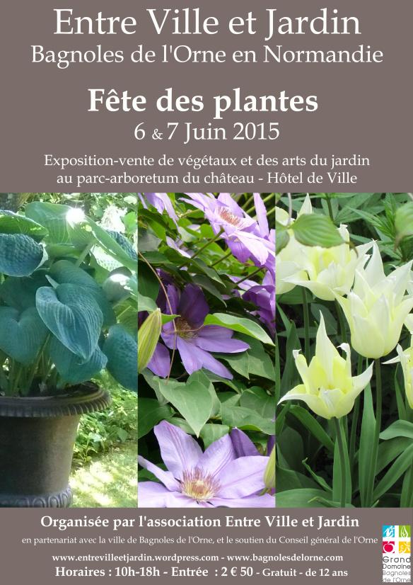 affiche de la fête des plantes de Bagnoles