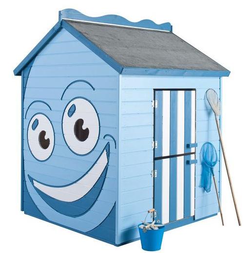 Cabane pour enfants rigolote avec des yeux et une bouche