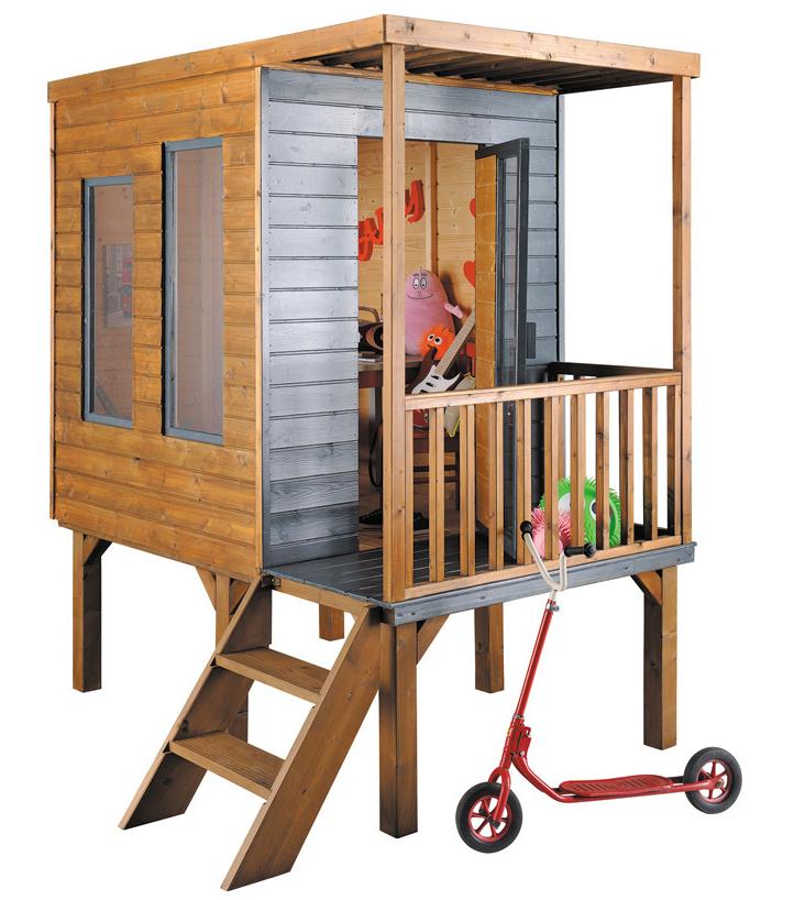 Les cabanes pour enfants font leur show blog ma for Cabane en bois moderne