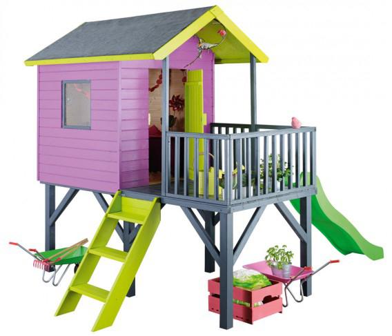 Cabane de jeux pour enfants abc toboggan