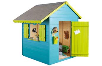 Cabane colorée pour enfants
