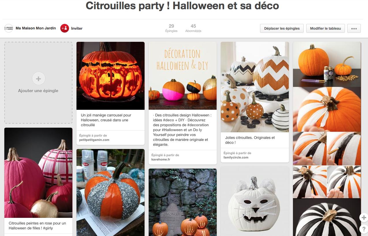 citrouilles décoration Halloween