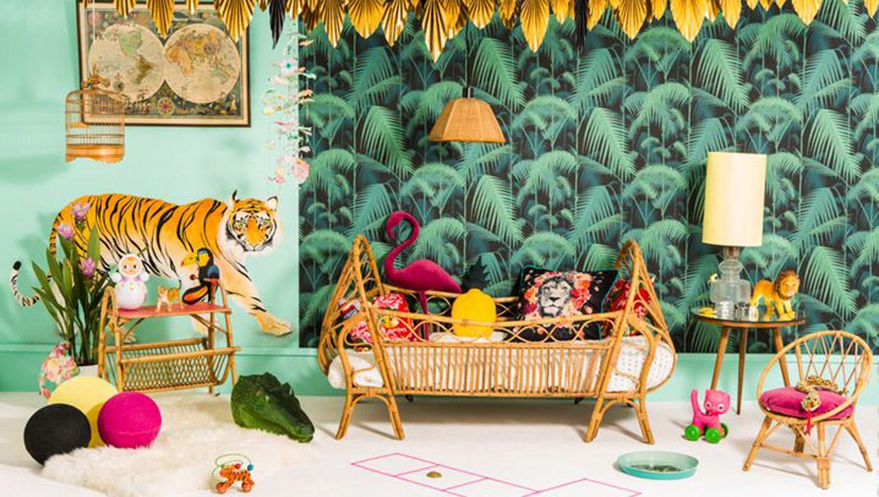 Chambre ambiance jungle tropicale