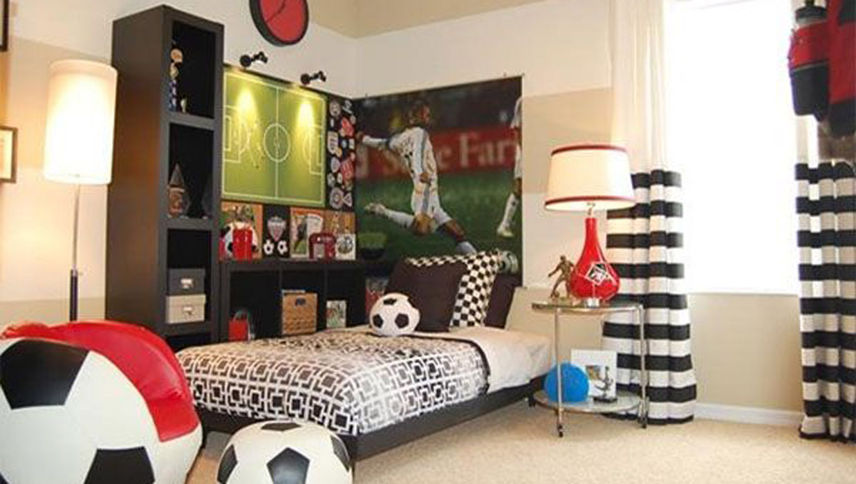 Top 11 des ambiances pour chambres d enfants blog ma - Comely pictures of basketball themed bedroom decoration ideas ...