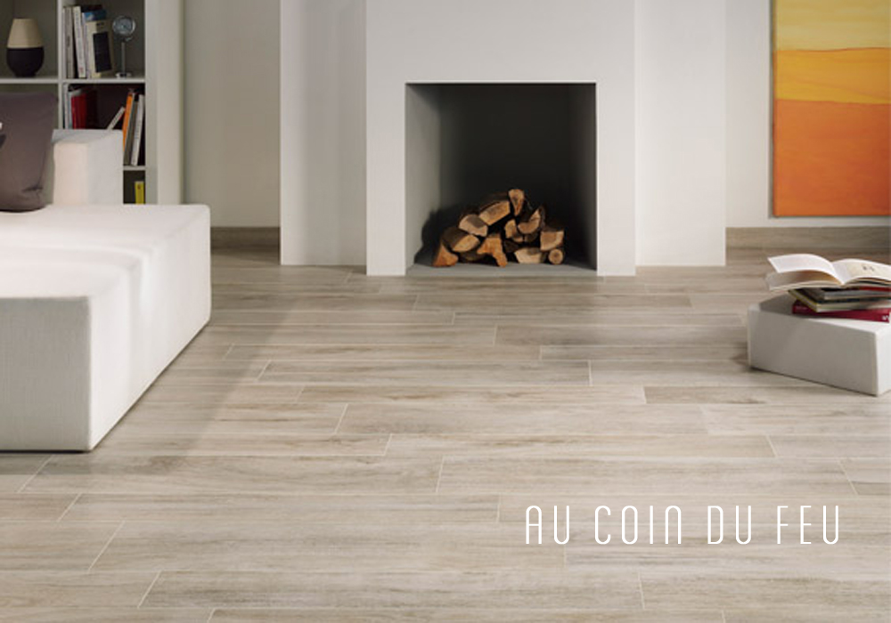 Salon carrelage parquet for Peut on coller du carrelage sur du bois