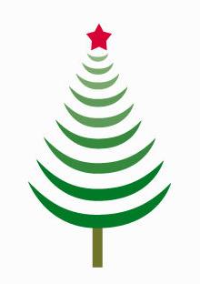 Sapin noel vert et rouge no l europ en 2019 - Dessin sapin vert ...