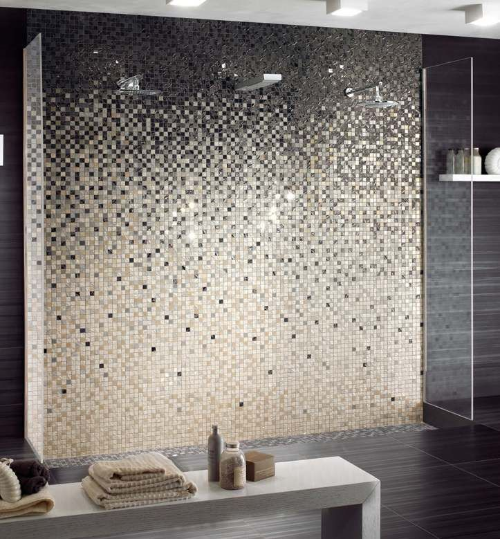 Carrelage mural et fa ence tendance ou has been blog for Carrelage salle de bain gris paillete