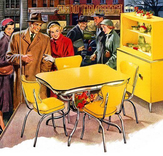 Ambiance vintage faites revivre les ann es 50 dans votre for Mobilier de cuisine annees 50