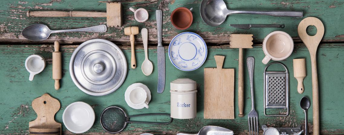 Ambiance vintage faites revivre les ann es 50 dans votre for Ustensiles de cuisine retro